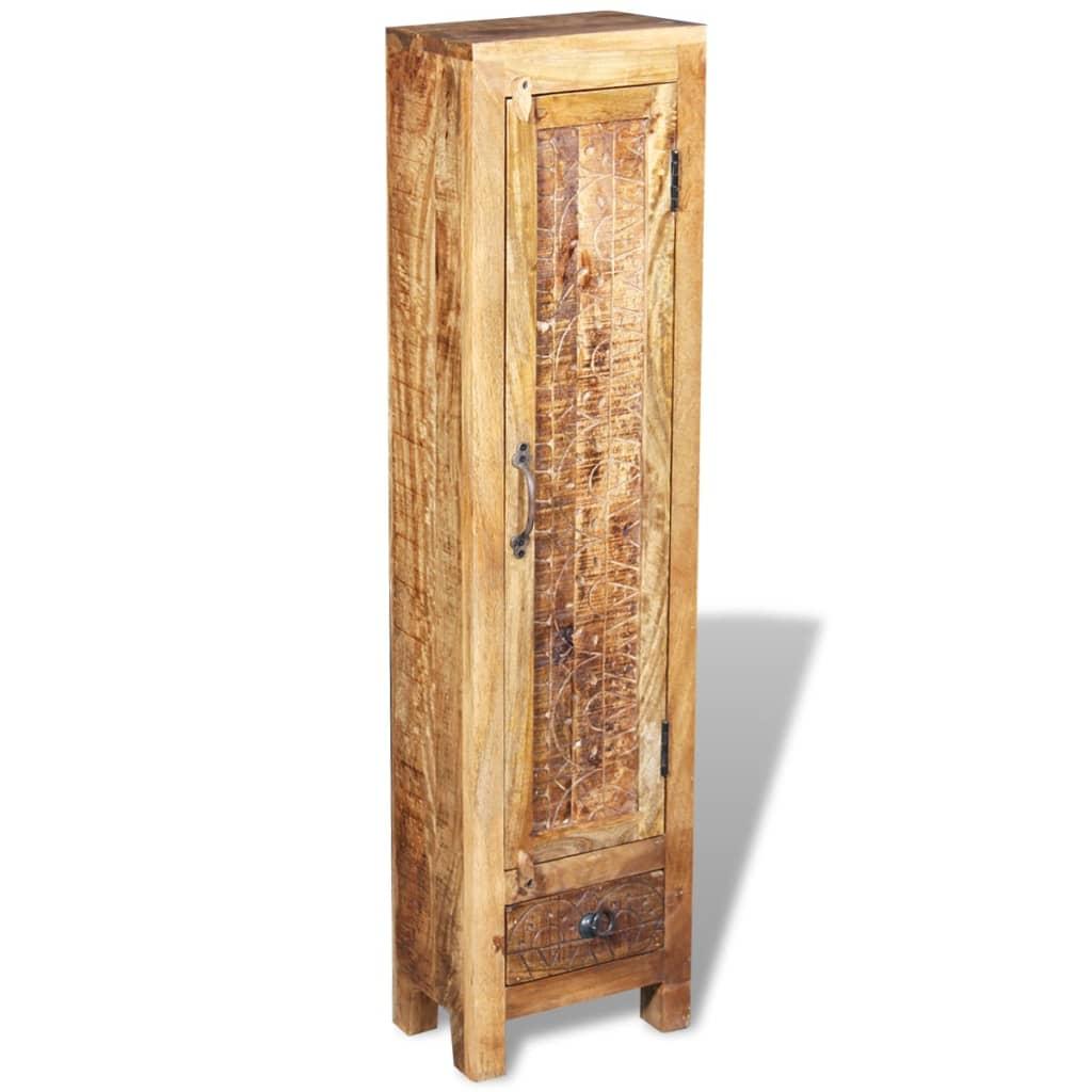 vidaXL Dulap chiuvetă oglindă 2 dulapuri laterale lemn masiv de mango