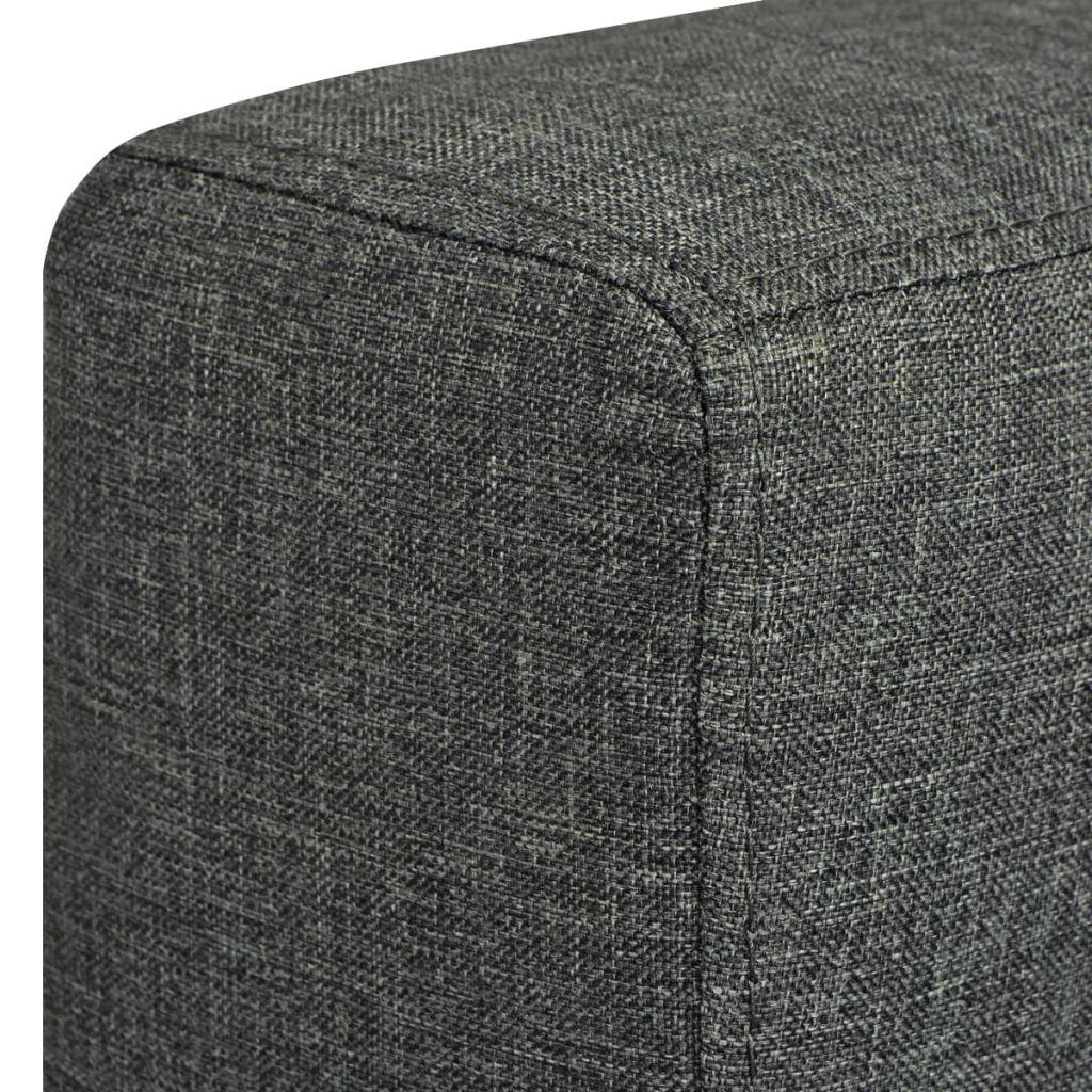Fotoliu, gri închis, material textil