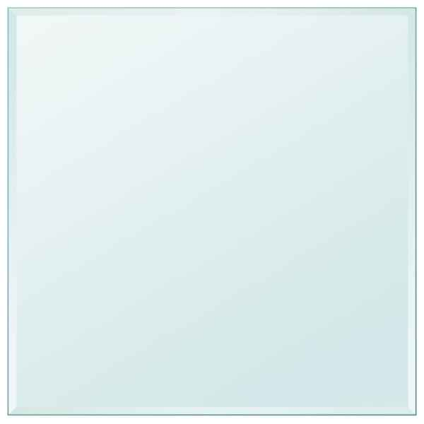vidaXL Blat de masă din sticlă securizată pătrat 800 x 800 mm