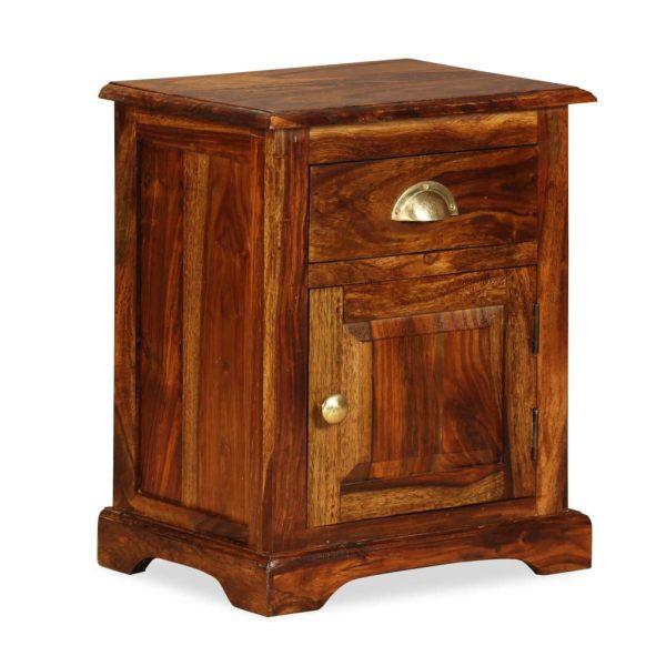 vidaXL Noptieră 40 x 30 x 50 cm, lemn masiv de sheesham