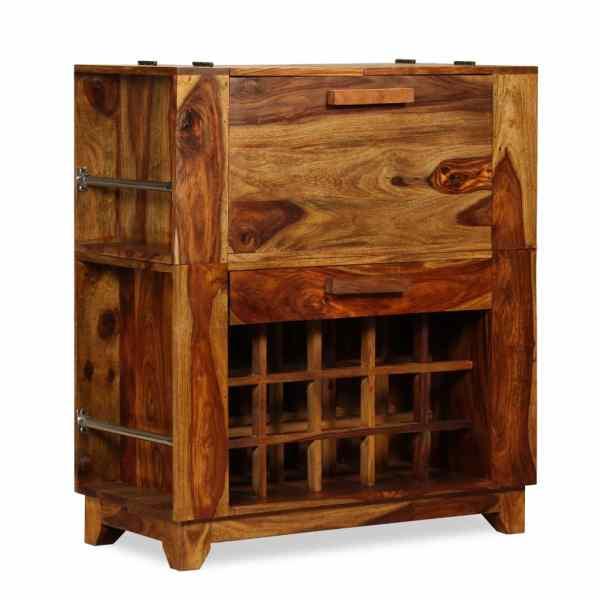 vidaXL Dulap bar din lemn masiv de sheesham, 85 x 40 x 95 cm