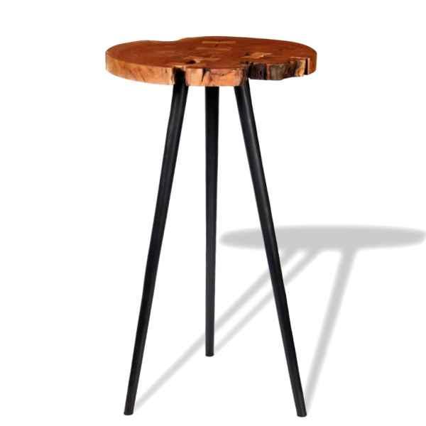 Masă bar model bușteni, lemn masiv de acacia (55-60) x 110 cm