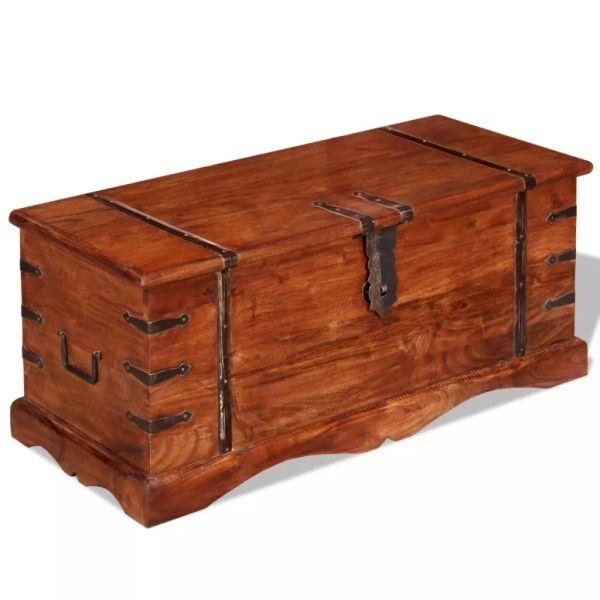 vidaXL Cufăr de depozitare, lemn masiv