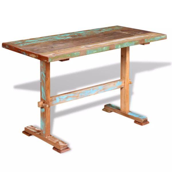 Masă bucătărie tip piedestal, lemn solid reciclat 120x58x78 cm