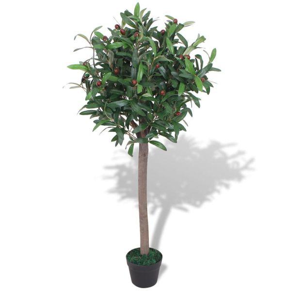 vidaXL Dafin artificial cu ghiveci, 120 cm, verde