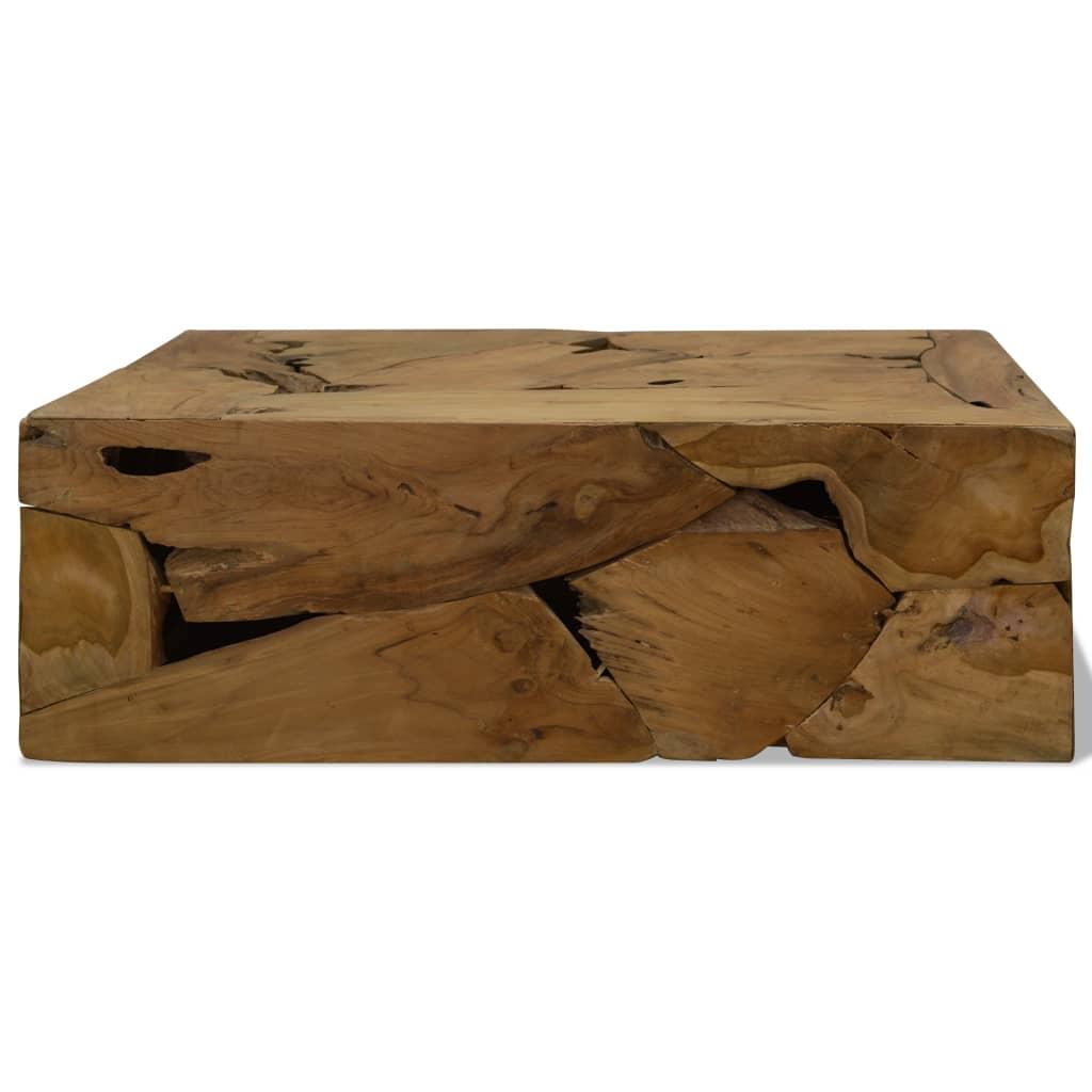 Măsuță de cafea, 90 x 50 x 35 cm, lemn de tec natural, maro