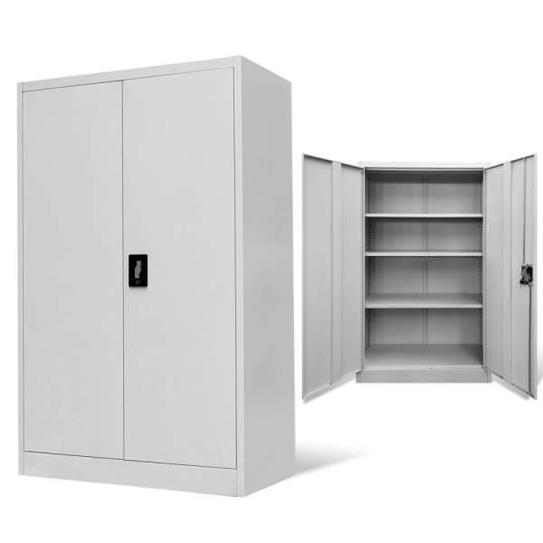 vidaXL Dulap de birou din oțel, 90x40x140 cm, gri