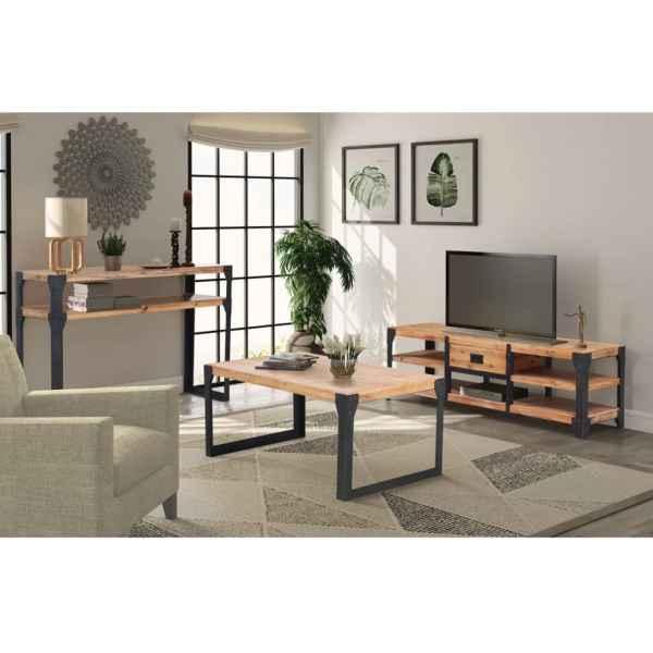 vidaXL Set mobilier de sufragerie, 3 piese, lemn masiv de acacia