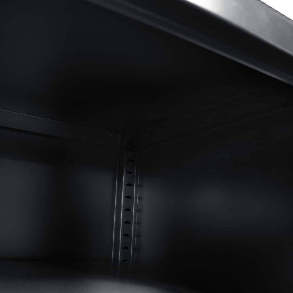 vidaXL Comodă TV, 118 x 40 x 60 cm, negru