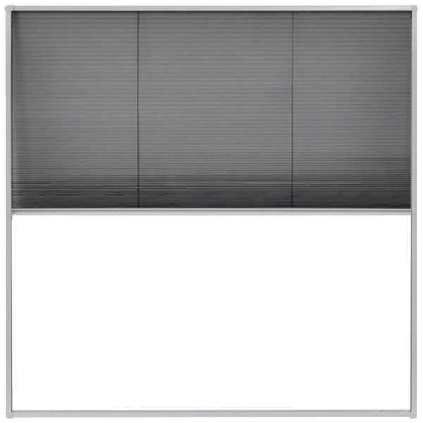 Ecran insecte pentru ferestre, aluminiu, 120×120 cm