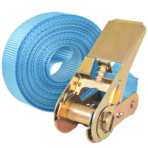 Chingi fixare cu clichet 10 buc, 0,8 tone, 4m x 25mm, albastru