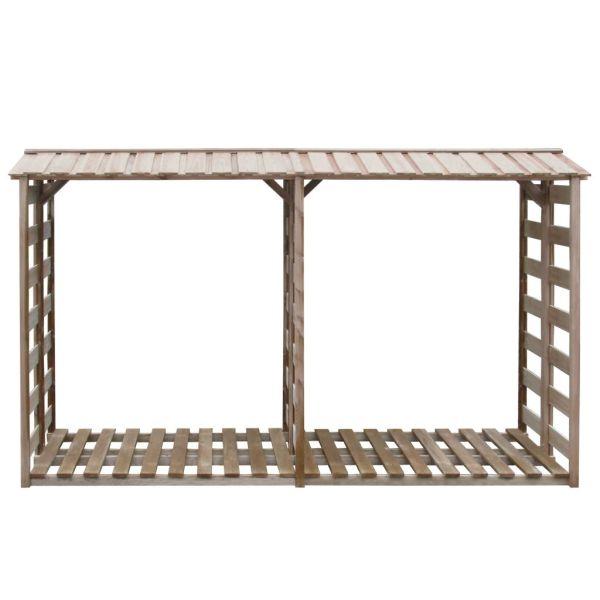 vidaXL Șopron lemne de foc, 300 x 100 x 176 cm, lemn de pin tratat