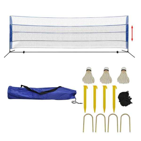 vidaXL Set fileu de badminton, cu fluturași, 500×155 cm