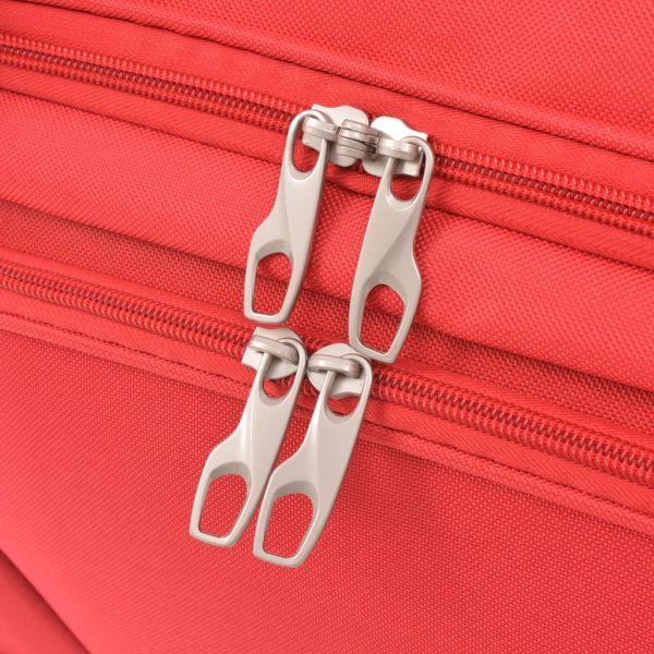 vidaXL Set de valize, 3 piese, roșu