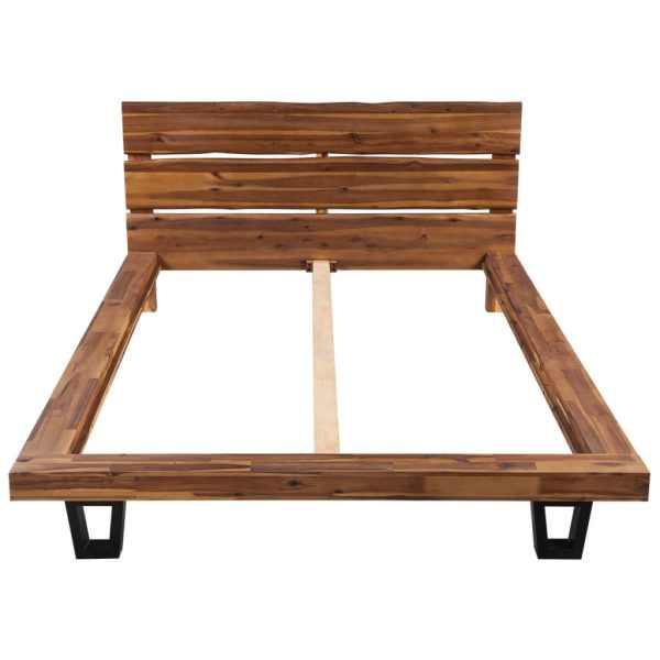 Cadru de pat din lemn masiv de acacia 140 x 200 cm