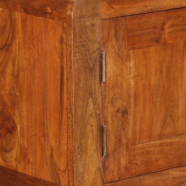 Bufet din lemn masiv cu finisaj de sheesham, 120 x 30 x 75 cm
