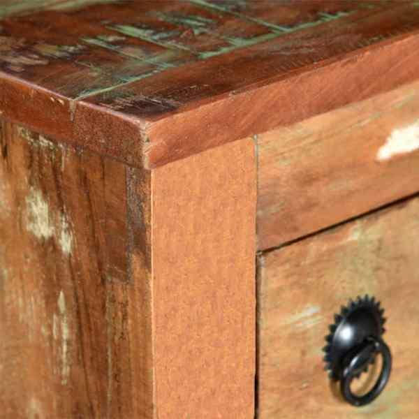 vidaXL Suport pentru 9 sticle de vin, lemn masiv reciclat