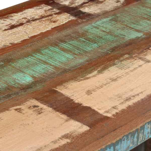 vidaXL Birou cu postament, lemn masiv reciclat, 140 x 50 x 77 cm