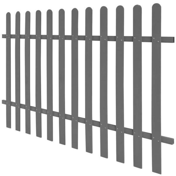 vidaXL Gard din șipci, 200 x 120 cm, WPC