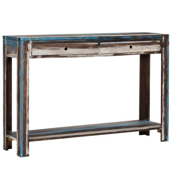 vidaXL Masă consolă din lemn masiv, vintage, 118 x 30 x 80 cm