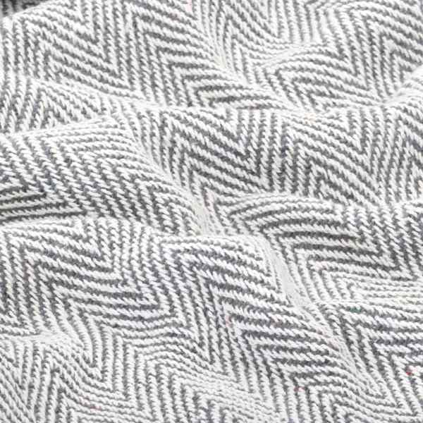 Pătură decorativă model spic, bumbac, 160 x 210 cm, gri