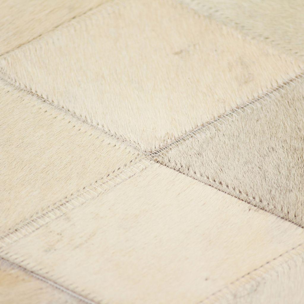 vidaXL Covor piele naturală, mozaic, 160×230 cm Romburi Gri