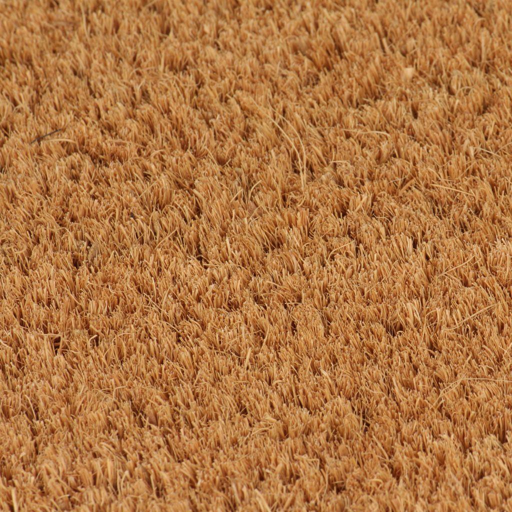 vidaXL Covoare ușă, fibră nucă cocos, 2 buc, 24 mm, 40×60 cm, natural