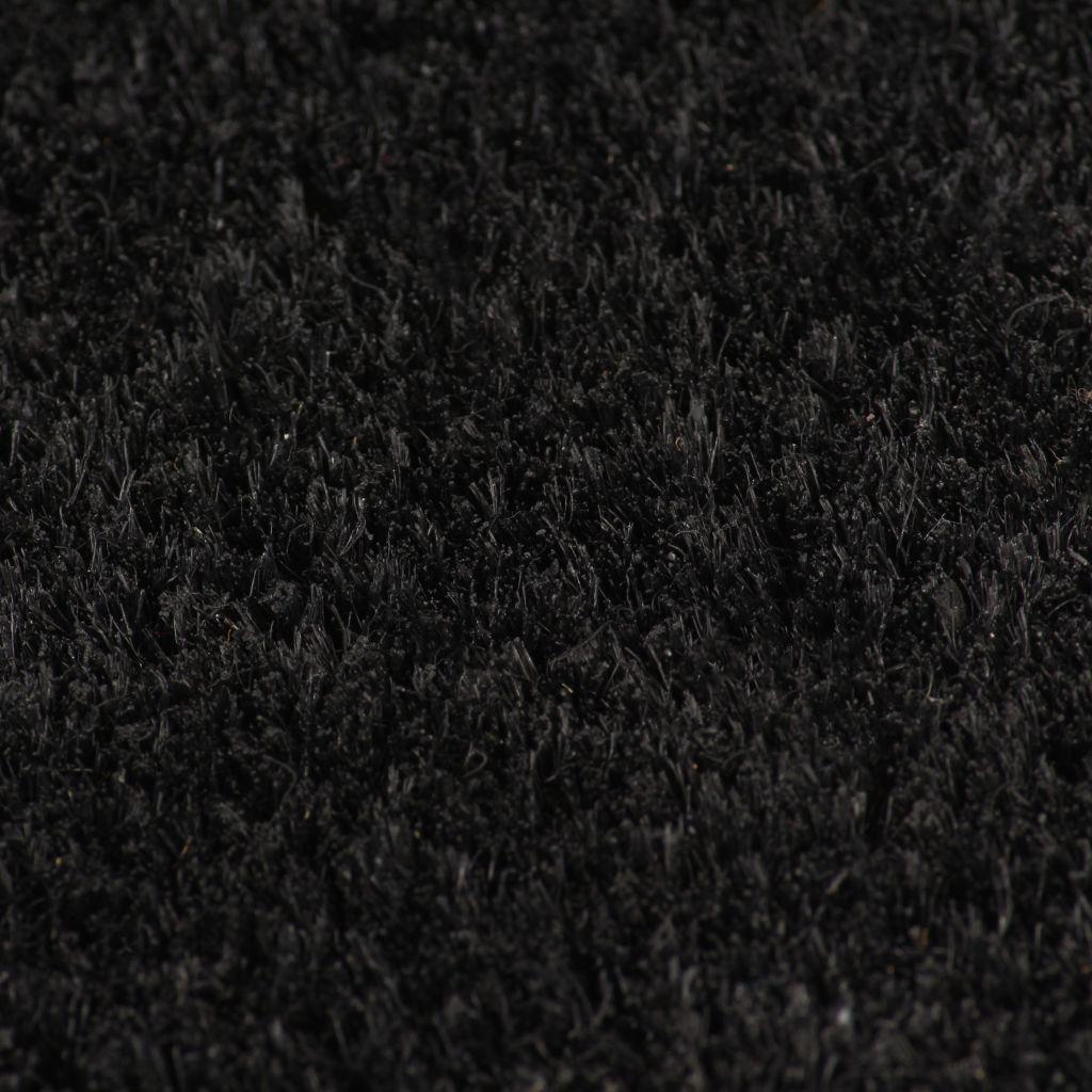 Covor intrare, fibră de nucă cocos, 17 mm 100×400 cm Negru