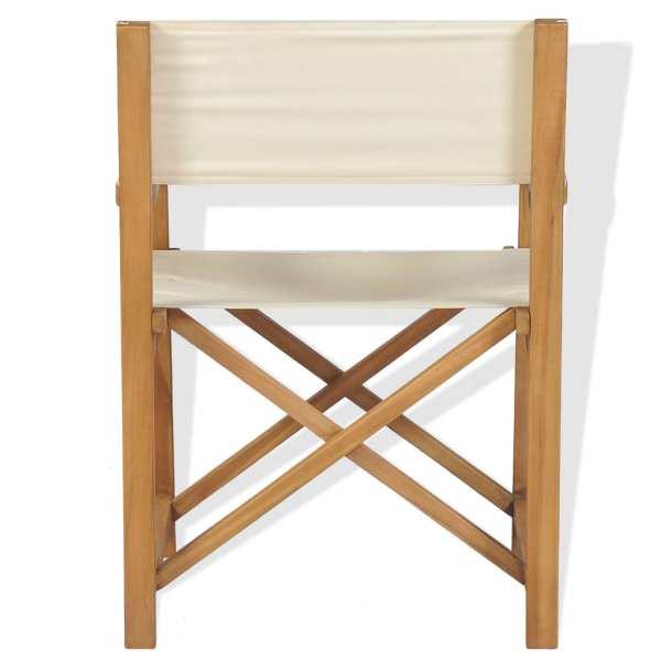 Scaun de regizor pliabil, lemn masiv de tec