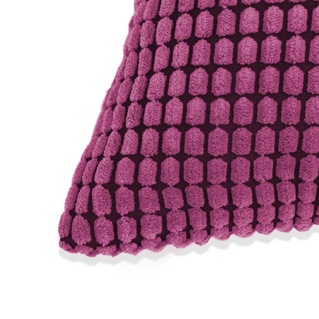 Set perne decorative 2 buc. Velur 60 x 60 cm Roz