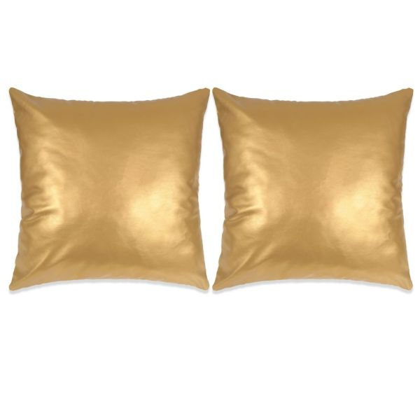 vidaXL Set perne decorative 2 buc. Poliuretan 60×60 cm Auriu