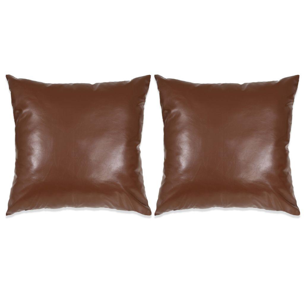 vidaXL Set perne decorative 2 buc. Poliuretan 60×60 cm Maro