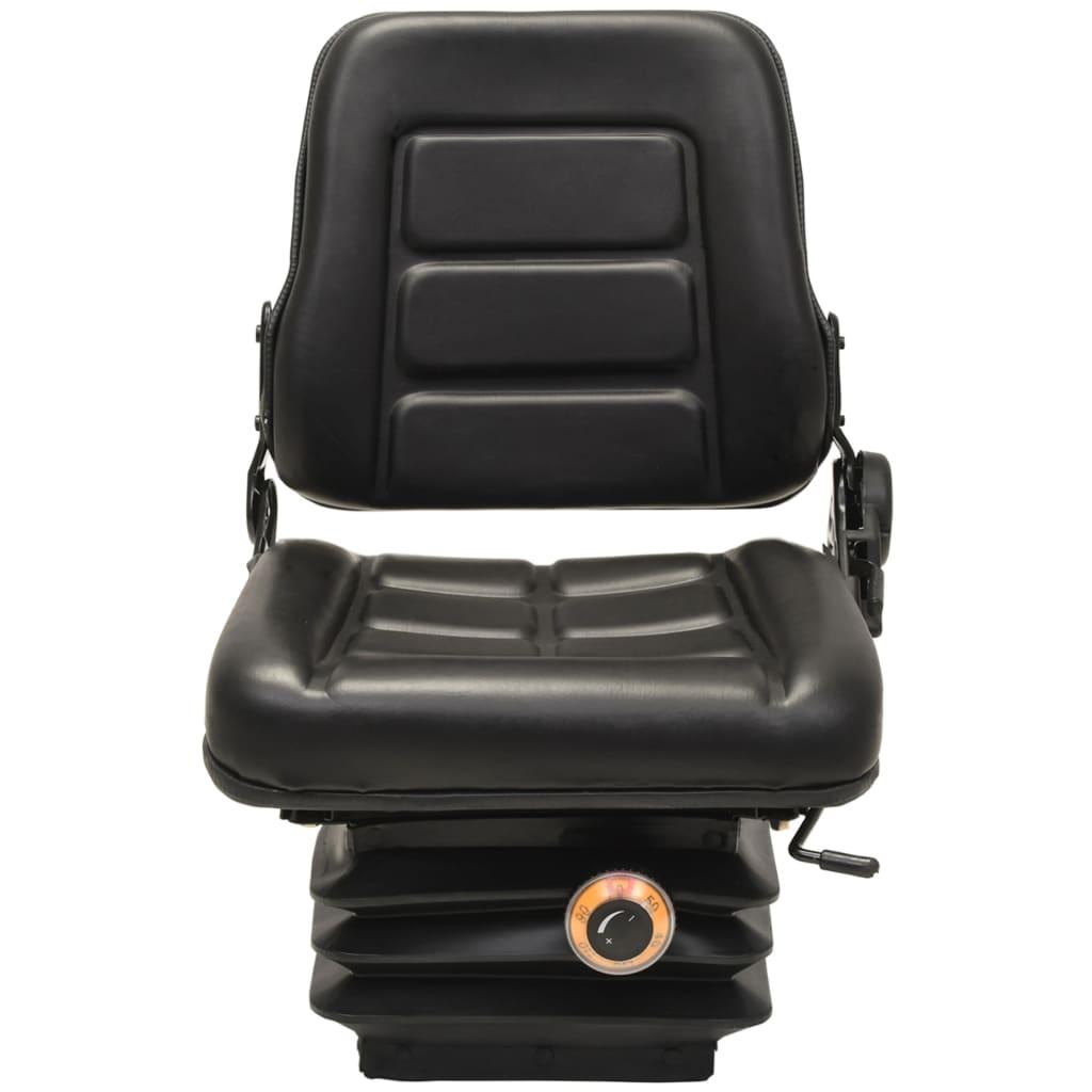 vidaXL Scaun cu suspensie, spătar reglabil pentru tractor și stivuitor