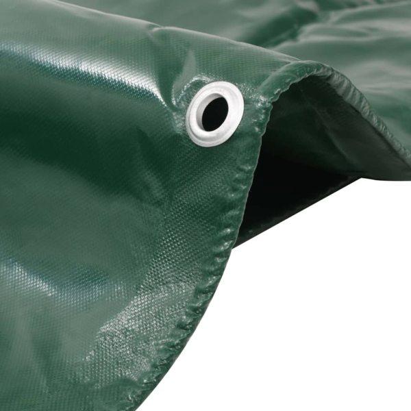 vidaXL Prelată 650 g/m² 3 x 3 m Verde