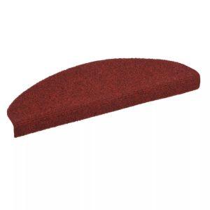 vidaXL Covorașe autocolante de scări, 15 buc, 65 x 21 x 4 cm, roșu