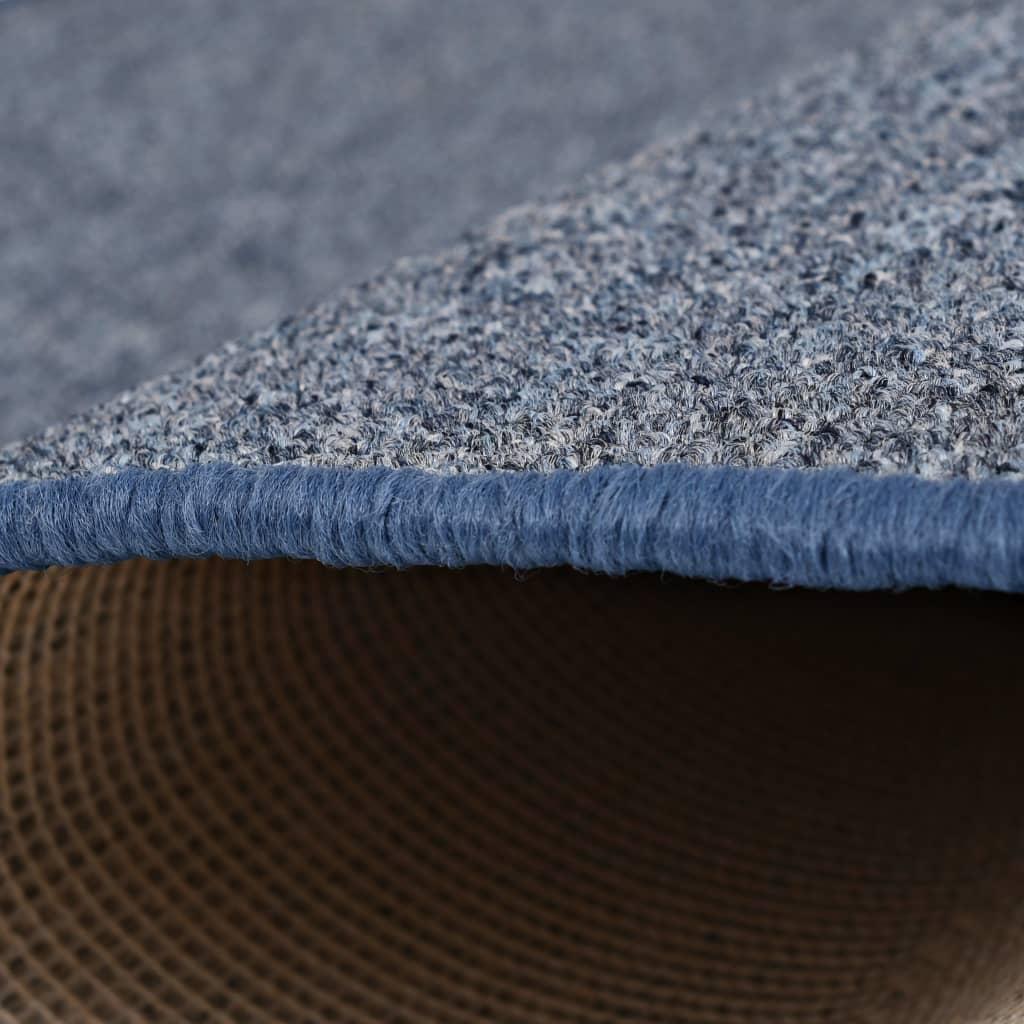 Covor cu smocuri 80 x 150 cm Albastru