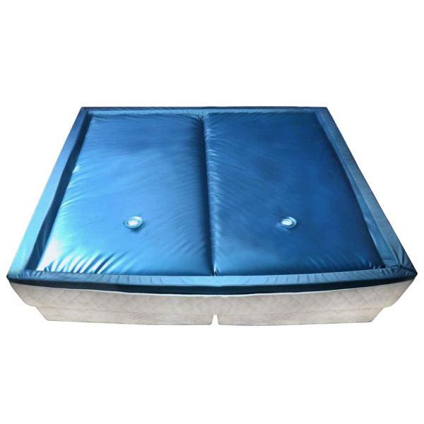 vidaXL Set saltea pat cu apă cu căptușeală și separator 200×200 cm F3