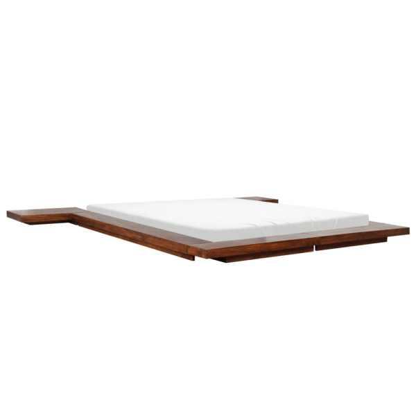 vidaXL Cadru pat futon, stil japonez, 160 x 200 cm, lemn masiv
