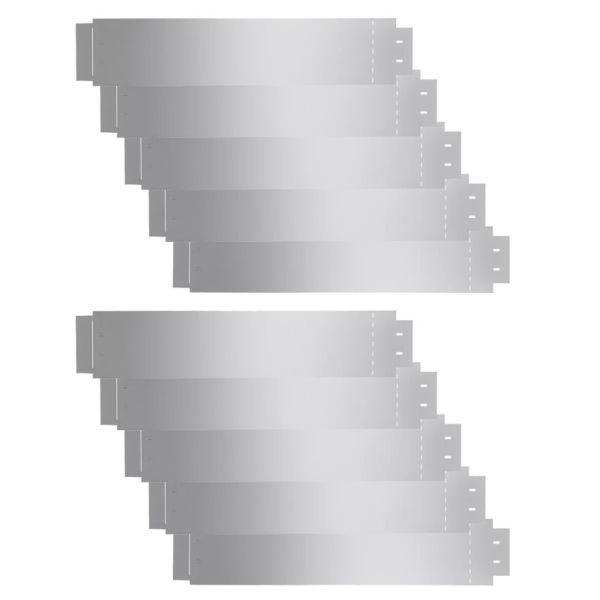 Gard de gazon, 10 buc., 100 x 20 cm, oțel galvanizat
