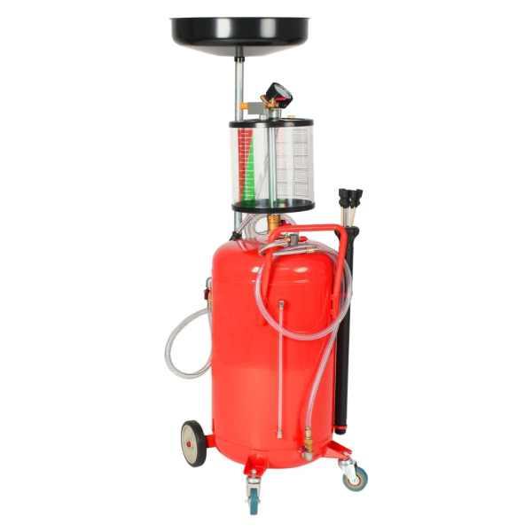 vidaXL Rezervor decantare ulei uzat, 70 L, Roșu