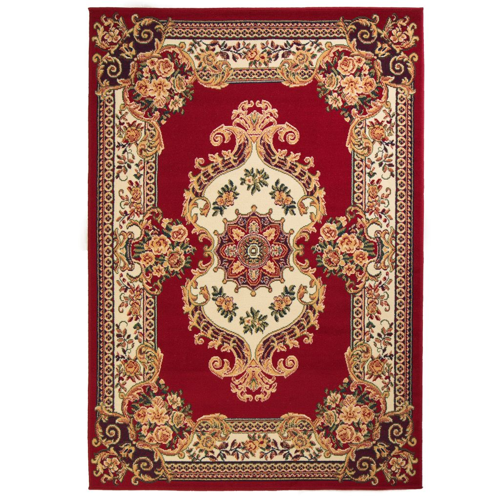 vidaXL Covor oriental, roșu/bej, 140 x 200 cm