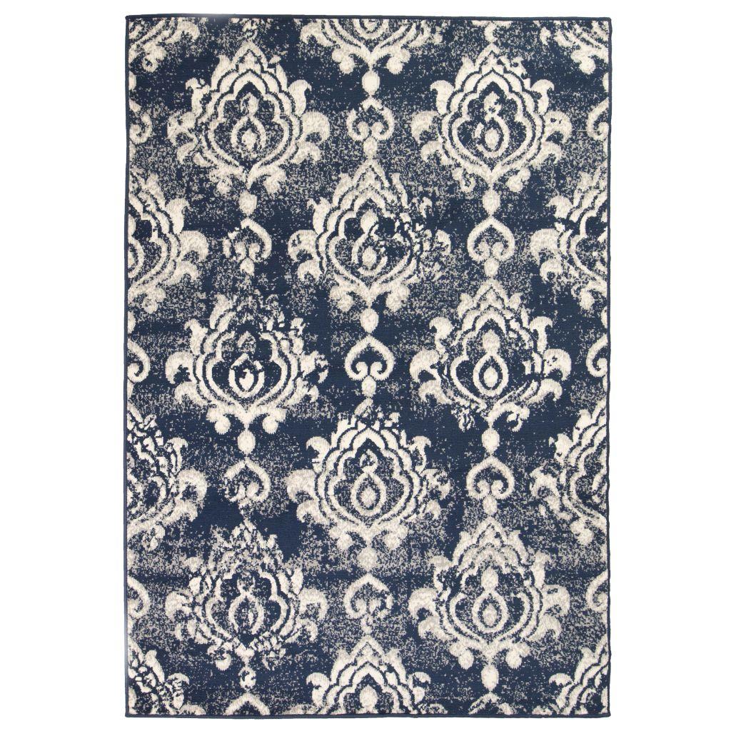 vidaXL Covor modern design Paisley, 160 x 230 cm, bej/albastru