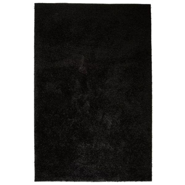 vidaXL Covor cu fir lung 80 x 150 cm Negru