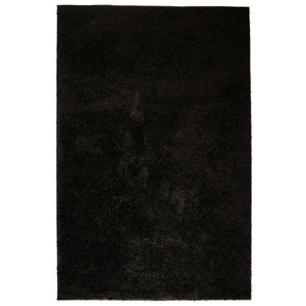 vidaXL Covor cu fir lung, 140 x 200 cm, negru