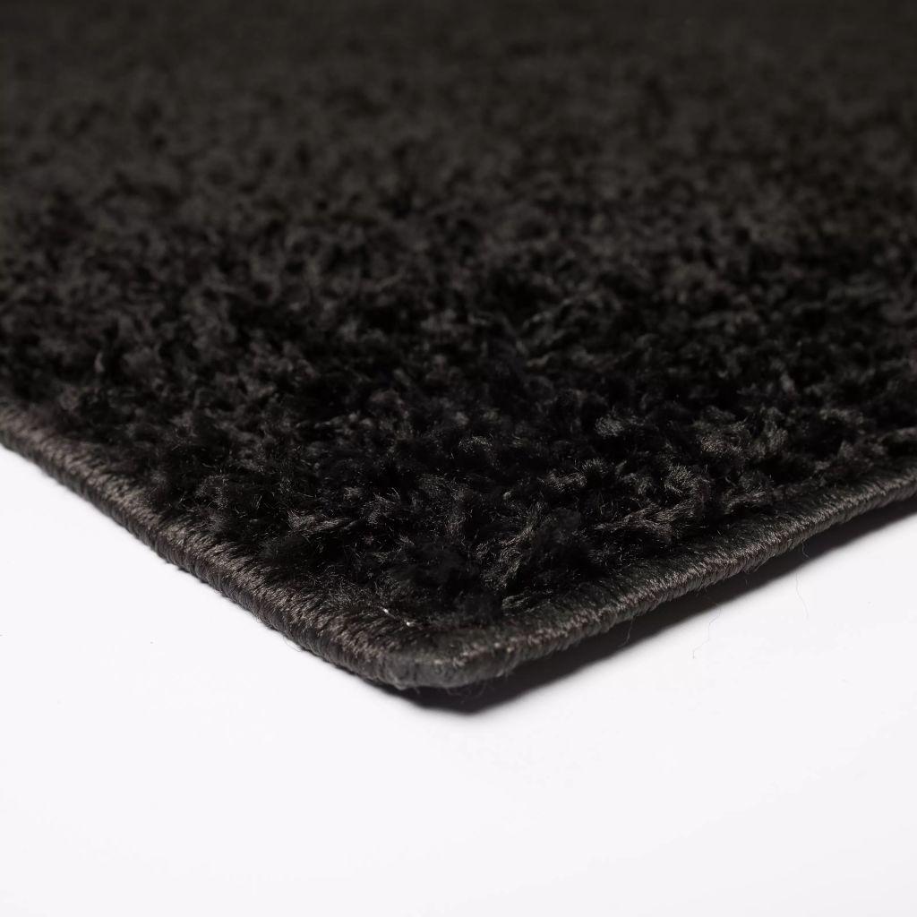 Covor cu fir lung, 140 x 200 cm, negru