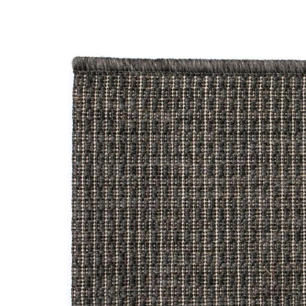 Covor aspect sisal de interior/exterior 160×230 cm Gri închis