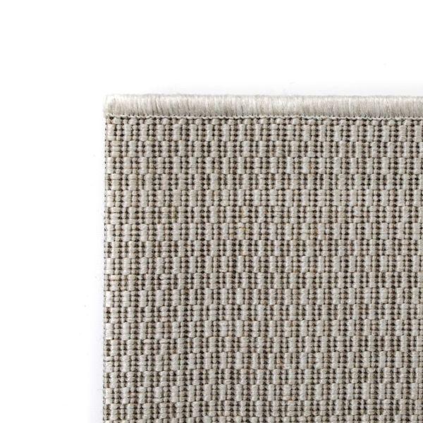 Covor aspect sisal de interior/exterior, 140 x 200 cm, gri