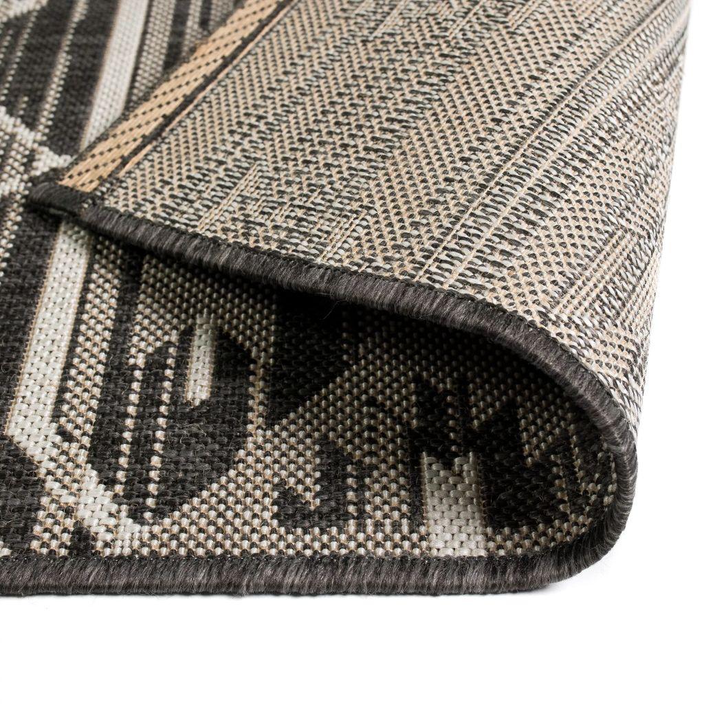 Covor aspect sisal de interior/exterior, 80×150 cm, geometric