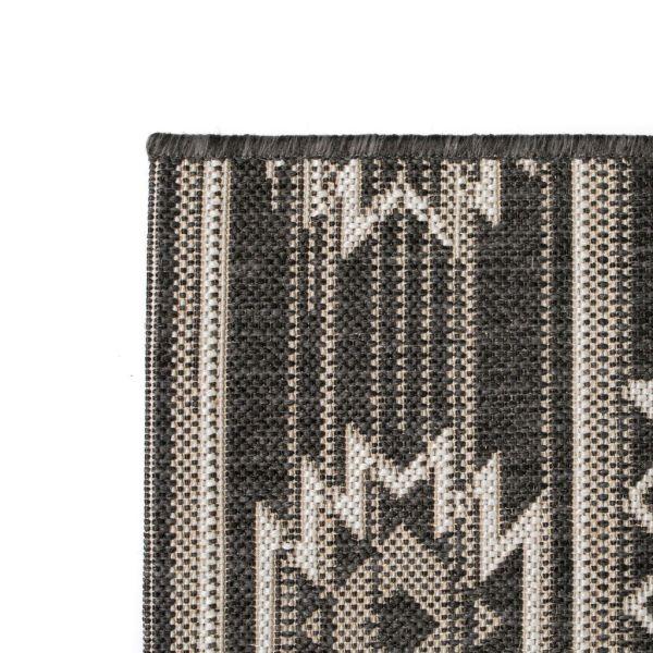 Covor aspect sisal de interior/exterior, 140×200 cm, geometric