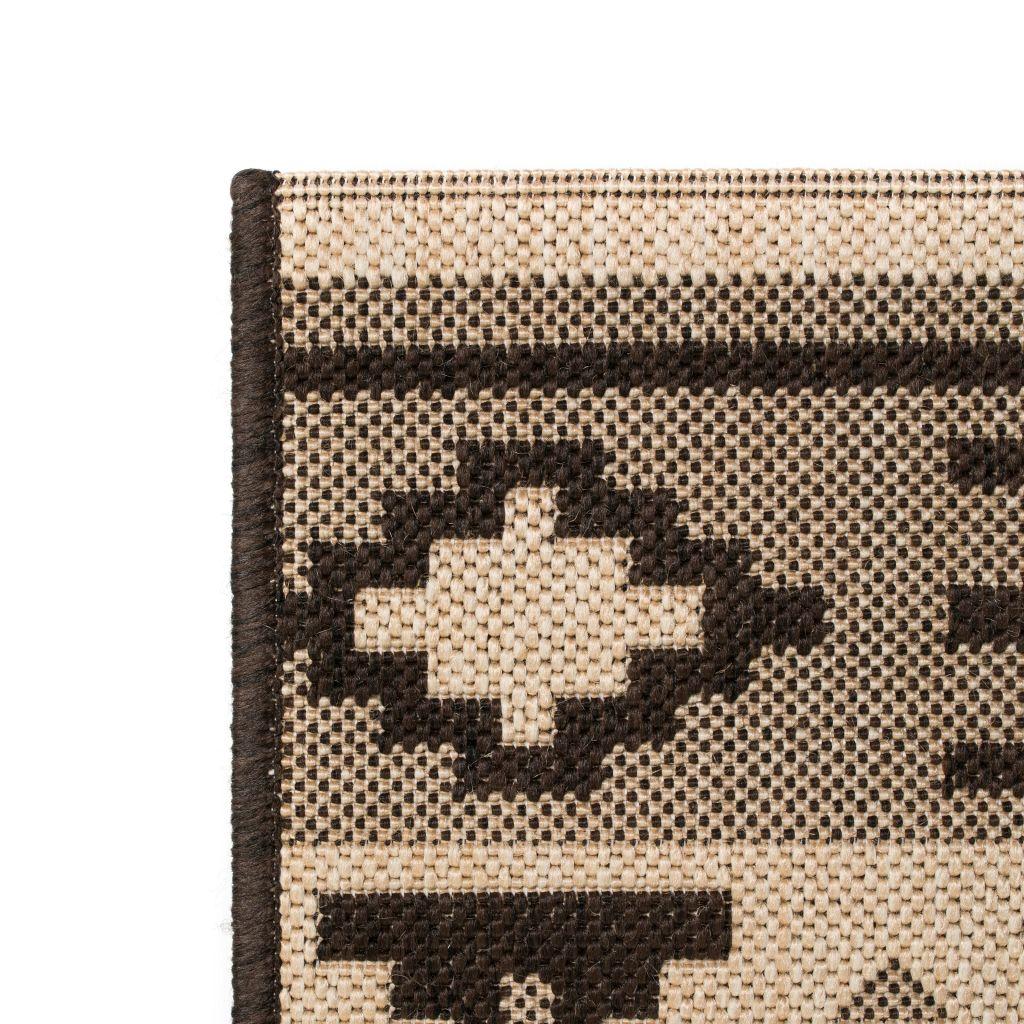 Covor aspect sisal de interior/exterior 140×200 cm design etnic